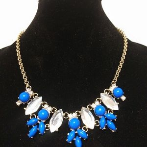 Jewelry - Fashion necklace blue and white
